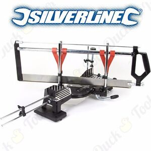 Professional Silverline 600mm Large Compound Mitre Saw Angle Cutting