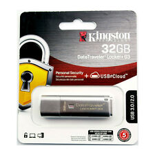 Kingston DataTraveler Locker+ G3 32GB USB 3.0 Hardware Encrypted Flash Drive 32G