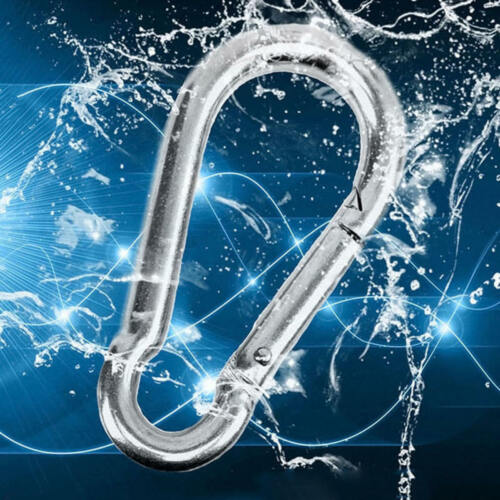 5PC hot Spring Snap Quick Link Lock Ring Carabiner 304 Stainless Steel M4//M5//M6