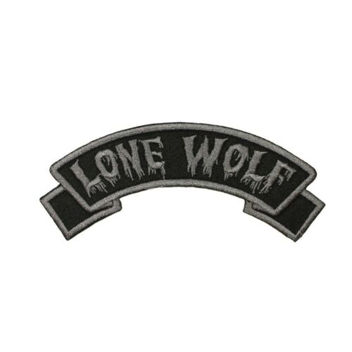 Lone Wolf Arch Patch Kreepsville 666 Name Tag Embroidered Iron On Applique