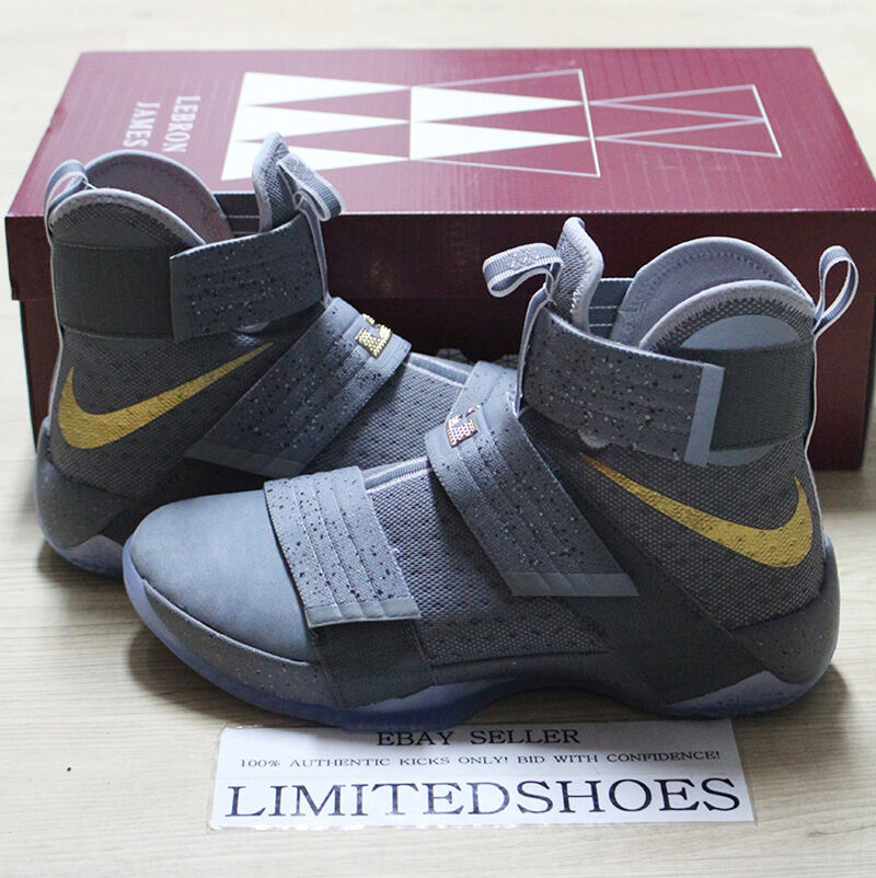 NIKE LEBRON SOLDIER X 10 SFG PE BATTLE GREY 899620-010 camo id game 6 7 xiv cavs