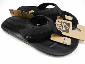 9a4c7d322 Image is loading REEF-MENS-SANDALS-CONTOURED-CUSHION-BLACK-SIZE-9