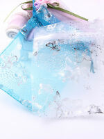 25/50/100PCs 10*12cm Organza Gift Candy Bags Wedding Christmas Favor Pouch Favor