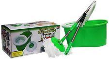 Storm Mop Original Spin Mop 360 Bucket System No Pedal Pumping Action Microfiber