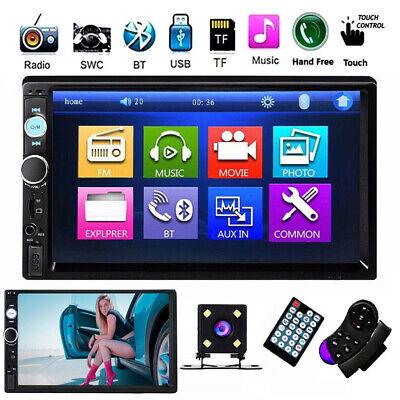 7/'/' 1080P FHD Car Stereo MP5 Player FM Bluetooth Remote SWC Mirror Link w//Camera