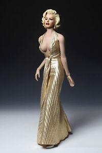 1-6-DIY-Marilyn-Monroe-weibliche-PH-Figur-Puppe-Gold-Kleid-und-Kopf-Sammlung