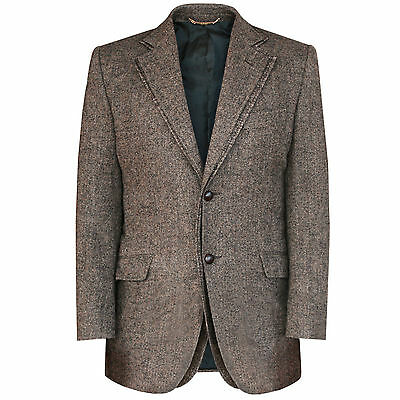 DOLCE & GABBANA double layered lapel brown wool tweed runway blazer jacket 38/48