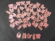 50 PINK MIXED BABY SHOWER CONFETTI TABLE SPRINKLES DECORATIONS . FREE P&P!!!