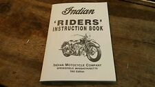 Indian Motorcycle Manual 1951 Edition Riders Instruction Book Repair Manual