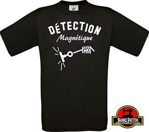 """T shirt """" DETECTION MAGNETIQUE """" pêche à l'aimant DETECTEUR mika SNAKE PATCH"""