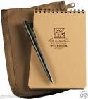 """Rite in the Rain"" 4""x6"" Tan Notebook #946T Kit with Tan Cordura Cover & Pen"
