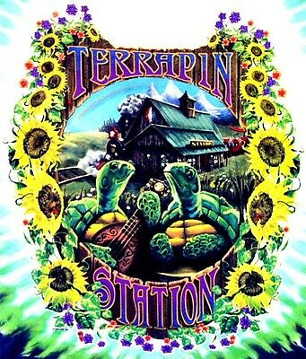 "3.25"" Grateful Dead TERRAPIN STATION STICKER. Jerry Garcia, good on bong or pipe"