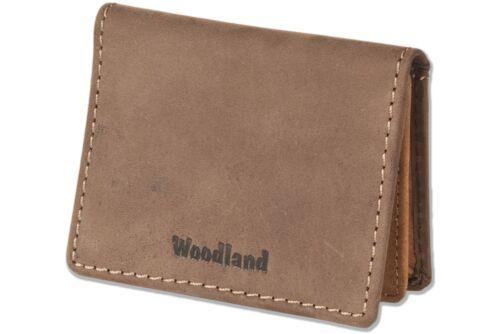 WOODLAND-Astuccio per 22 carte di credito in pelle bufalo D /'Marrone//Cognac 6212947