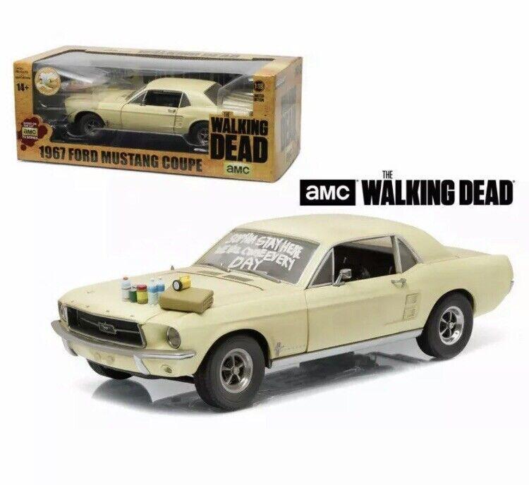 vertlumière modèles échelle 1 18 12958-Ford  Mustang 1967 coupé-The en marchant Dead  bienvenue pour acheter