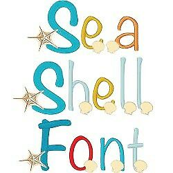Seashell Font 62 Machine Embroidery Font Designs