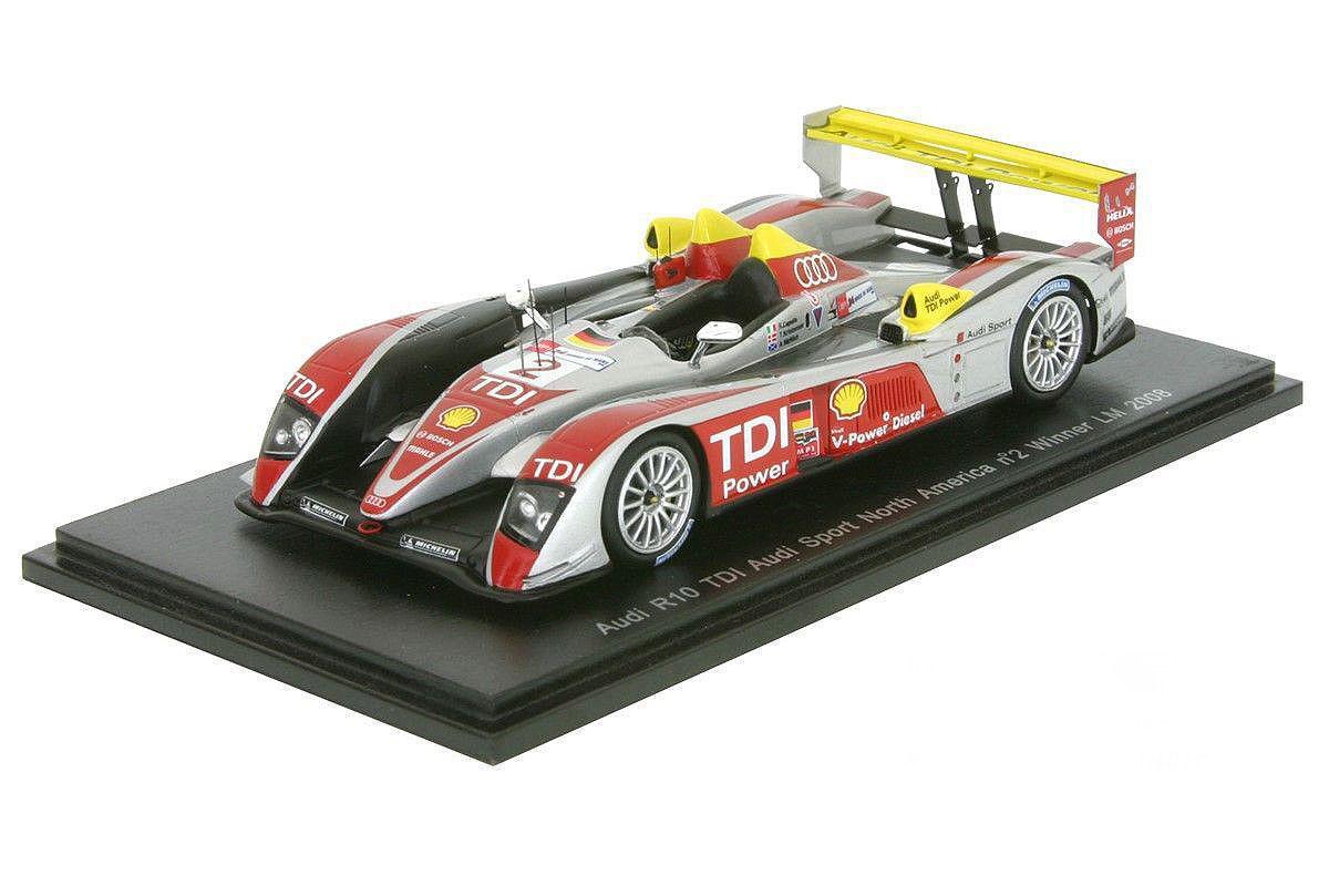 Audi R10 Tdi , N º 2 , Ganador Le Mans 2008 en 1 43 Escala por Spark 43lm08