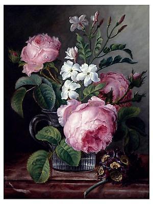 Comolera Flowers Tile Mural Kitchen Bathroom Backsplash Marble Ceramic Roses M