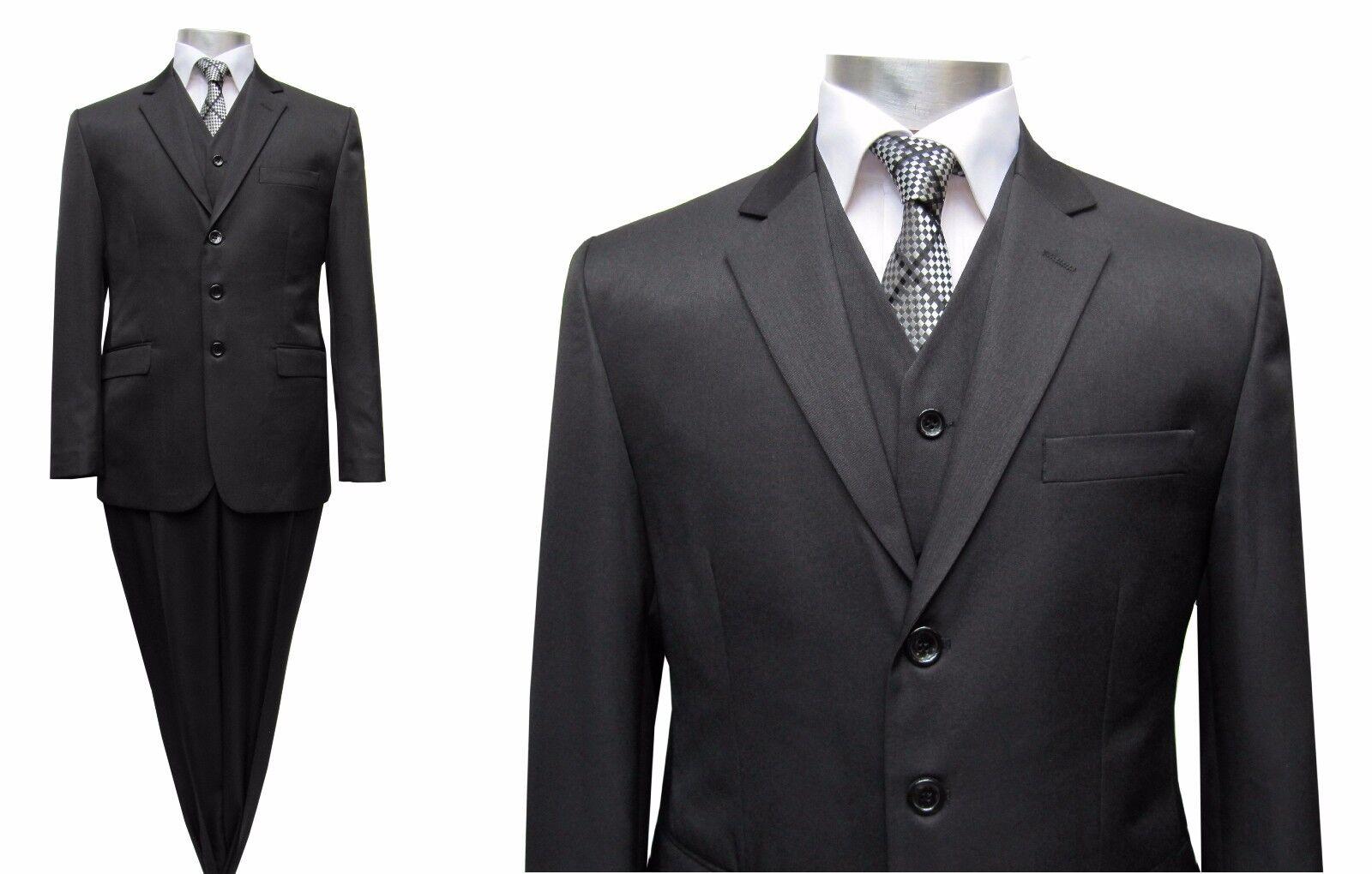 Herren Anzug mit Weste Gr.31 Schwarz