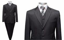 Herren Anzug mit Weste Gr.27 Schwarz