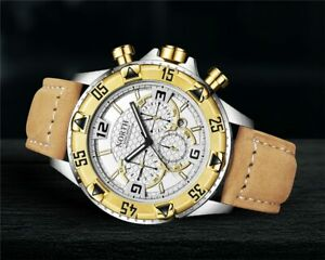 New-Men-s-North-Gold-amp-Tan-Color-Luxury-Dress-Watch