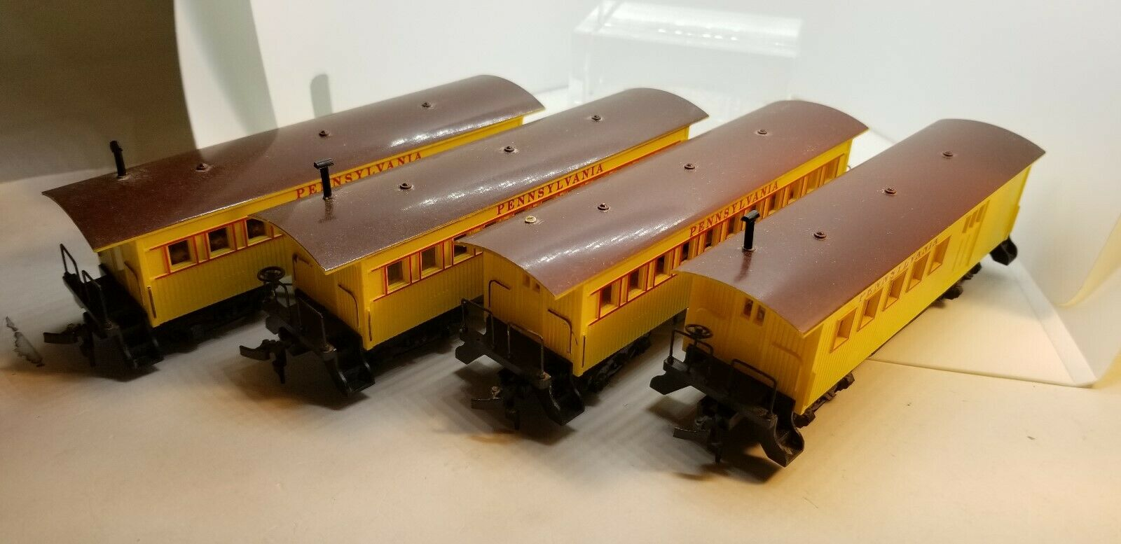 HO 1 87 Bachmann Pennsylvania RR Old Time Passengar 4-voiture set (no Box) LNIB