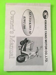 Sento-Kiwi-50-100-Scooter-Owner-s-Manual-NEW-Kwang-Yang-Kymco