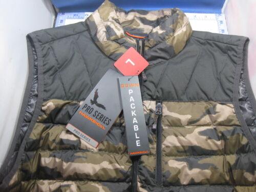 NEW $60 Hawke /& Co Pro Series Mens Sequoia Camo Duck Down Packable Vest Warm
