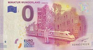 BILLET-0-EURO-MINIATUR-WUNDERLAND-ALLEMAGNE-2017-1-NUMERO-RADAR-29029