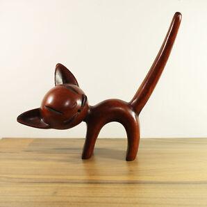 WALTER BOSSE ACHATIT KATZE MID CENTURY 1950/1960'S GERMAN DESIGN CAT FIGURE 50S