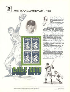 193-20c-Babe-Ruth-2046-USPS-Commemorative-Stamp-Panel