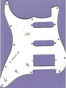 LEFT-HANDED-034-STRAT-034-STYLE-PICKGUARD-SCRATCHPLATE-WHITE-BLACK-WHITE-HUMBUCKER