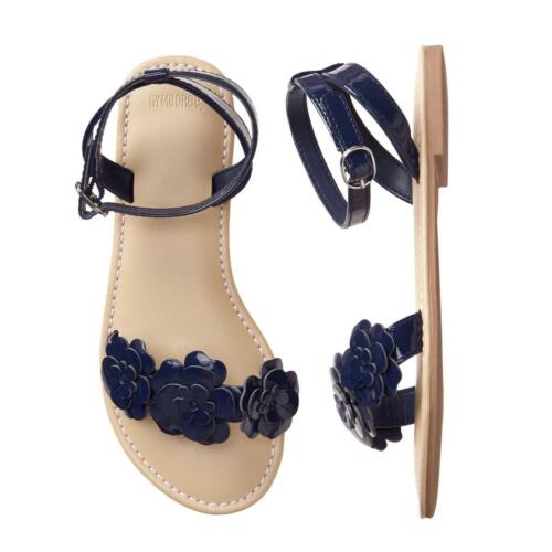 NWT Gymboree Navy Blue Flower Sandals Shoes Kids Girl Easter  many sizes