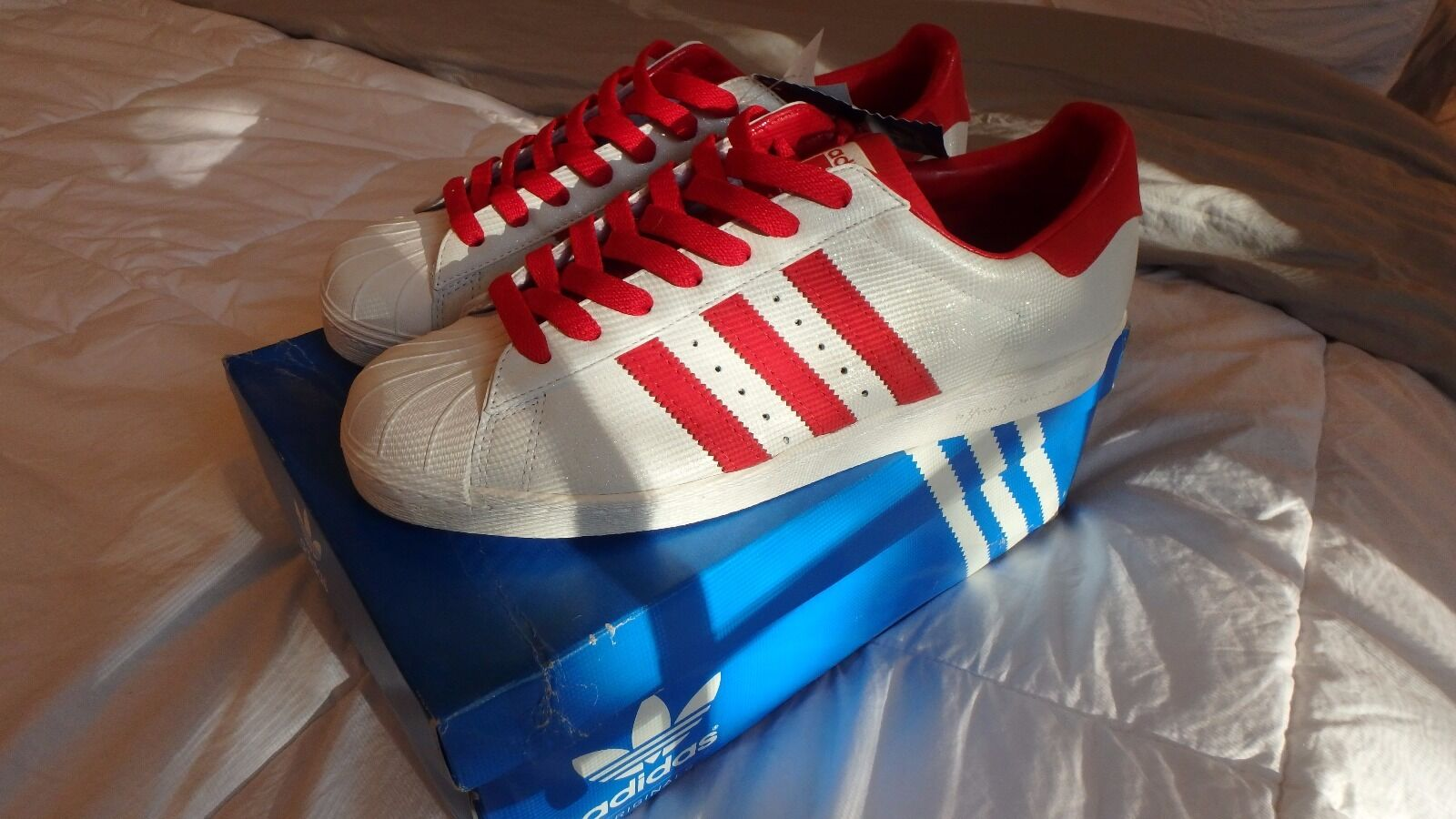 Adidas Superstar and 80s 60 yrs soles and Superstar stripes Size 12 Art 901977 Date 11/08 NWT db5e6b