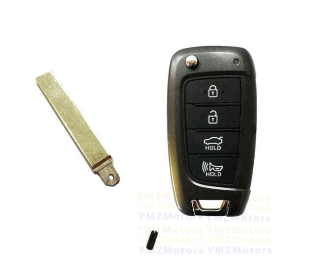OEM 2018 2019 Hyundai Kona Keyless Entry Remote Flip Key FCC OSLOKA-450T PD