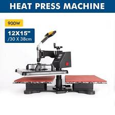 12x15 Double Station 360 Swing Away Heat Press Machine For T Shirt Printer
