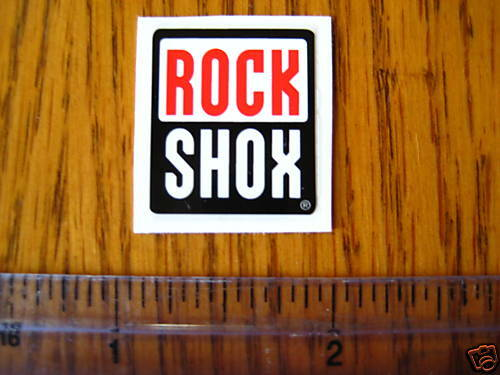 Free Shipping ROCK SHOX Mountain Bike Bikes Fork Shox Red//Black STICKER DECAL