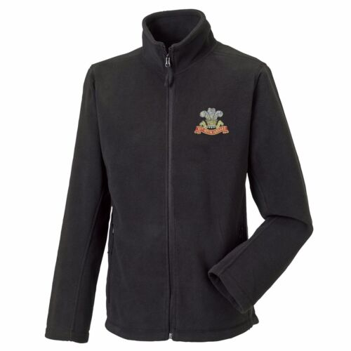 The Royal Hussars Full Zip Fleece Embroidered Logo