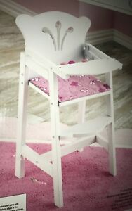 Superbe Image Is Loading KidKraft Lil 18 Doll High Chair White Lacquer