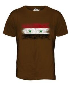 Pour Cadeau shirt Hommes Drapeau Syrie Délavé Haut T Suriyah Football vqTTga