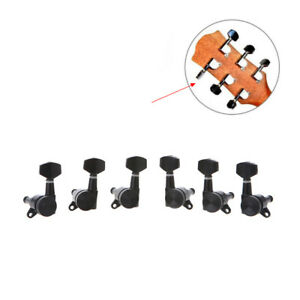 guitar locking tuners tuning pegs machine heads 3l3r for electric acoustic black 799928723671 ebay. Black Bedroom Furniture Sets. Home Design Ideas