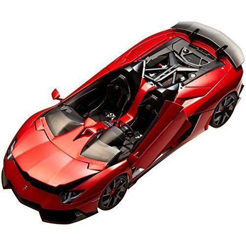 bilkonst 1  18 Lamborghini Aventador J Metalliskt röd tärningskast Förlaga 74673