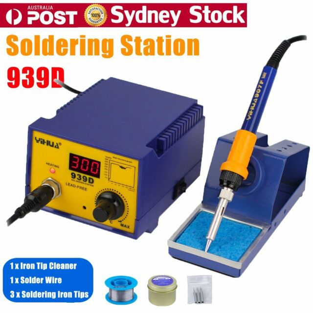 Digital 75W Soldering Iron Station Lead Free ESD Safe Welding Tool Stand Kit