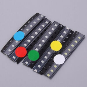 50pcs-SMD-0805-LED-Diodes-Assortment-Kits-5Values-Rot-Blau-Gruen-Gelb-Weiss-BAF