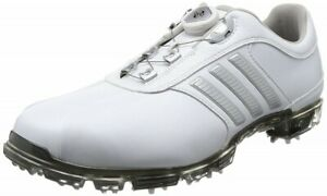 Adidas-Golf-Men-039-s-Shoes-PURE-METAL-BOA-PLUS-White-Silver-Q44897-With-Tracking