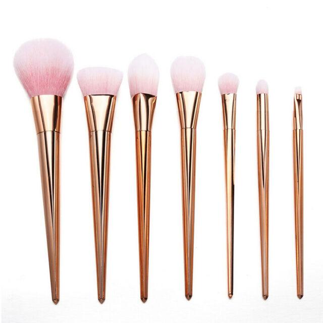 7pcs Makeup Brushes Set Powder Foundation Eyeshadow Eyeliner Lip Brush Tool USTY