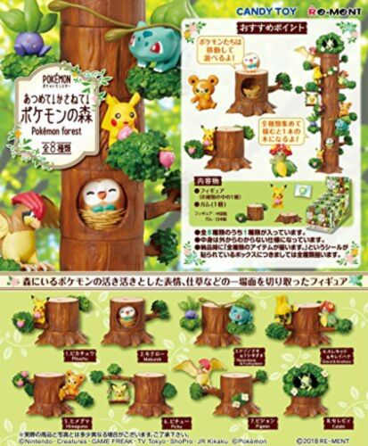 Re-Ment 203850 Pokemon Forest 8 Figur Komplettset Candy Spielzeug F/S W/