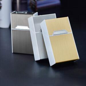 USB-Lighter-Cigarette-Case-Box-Electronic-Rechargeable-Windproof-Cigarette-Case