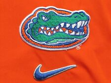 Nike Team Issued NCAA Florida Gators basketball Orange Warm Up L/S Jersey M mens