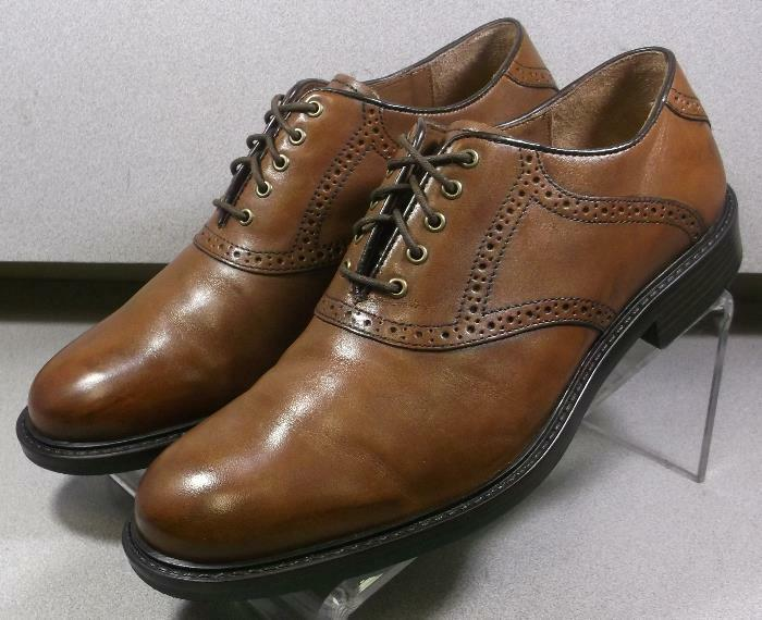 202270 PF50 Men's shoes Size 10 M Dark Tan Leather Lace Up Johnston & Murphy