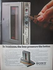 10/1982 PUB SONY PORTABLE CASSETTE RECORDER TCM-7 ORIGINAL AD